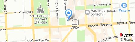 Европлан на карте Челябинска