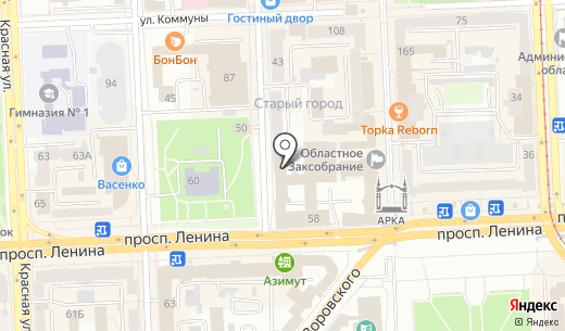 Европлан. Схема проезда в Челябинске