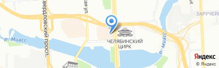 Пивное Место на карте Челябинска