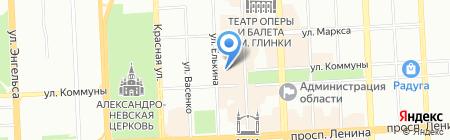 Поток на карте Челябинска