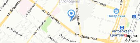 Детский сад №413 на карте Челябинска