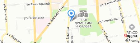 Юность на карте Челябинска
