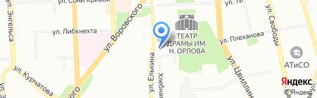ЗиМ на карте Челябинска
