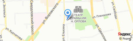 Два дракона Тур на карте Челябинска