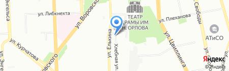 Шин Master на карте Челябинска