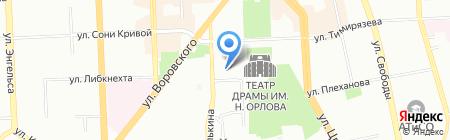 Востокптицемаш на карте Челябинска