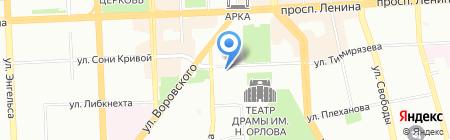 Paradise на карте Челябинска