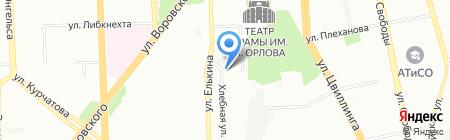 На Элеваторе на карте Челябинска