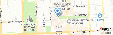 Лабиринт Страха на карте Челябинска
