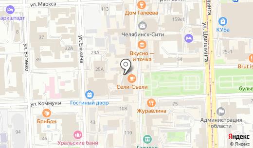 Павловопосадские платки. Схема проезда в Челябинске