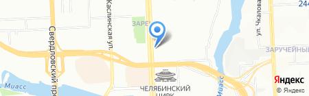Мехландия на карте Челябинска
