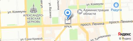 Законодательное Собрание Челябинской области на карте Челябинска