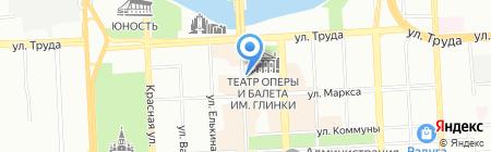Корас-21 век на карте Челябинска