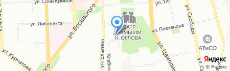Неопласт на карте Челябинска
