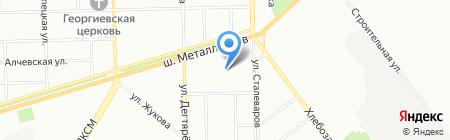 Мэри на карте Челябинска