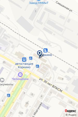 АВТОШКОЛА РОСТО (ДОСААФ) на карте Коркино