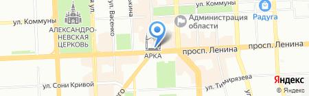 Золотая пантера на карте Челябинска