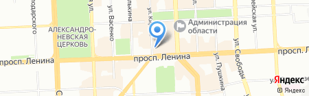 Аметист на карте Челябинска