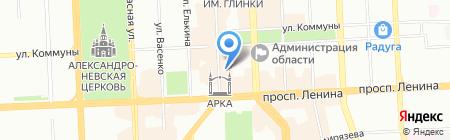 Люси на карте Челябинска