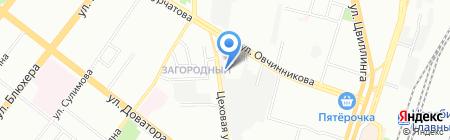 Аллея кафеля на карте Челябинска