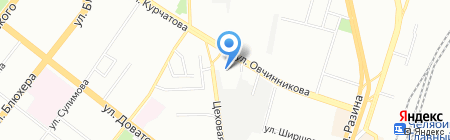 Линкор-Челябинск на карте Челябинска