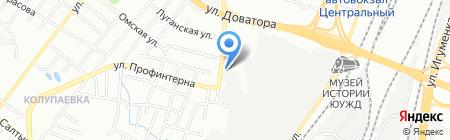 Кирпичный двор на карте Челябинска
