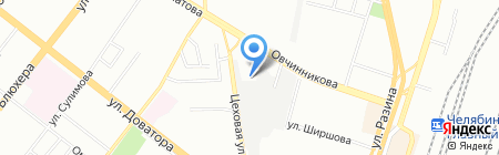Профнастил на карте Челябинска