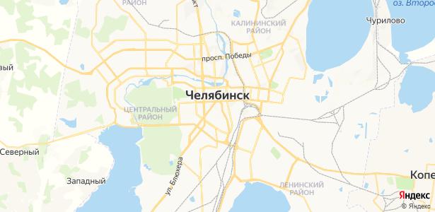 Челябинск на карте