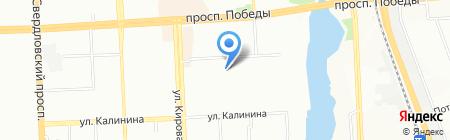 Средняя общеобразовательная школа №6 на карте Челябинска