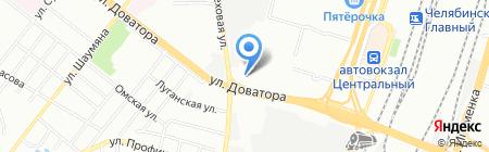 Блеск на карте Челябинска