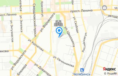 Местоположение на карте пункта техосмотра по адресу г Челябинск, ул Орджоникидзе, д 54А