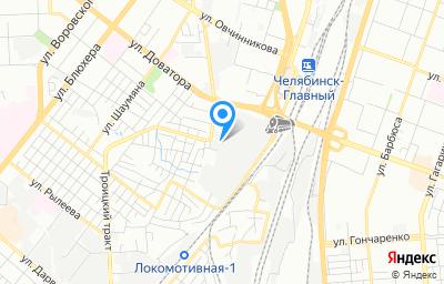 Местоположение на карте пункта техосмотра по адресу г Челябинск, ул Разина, д 1