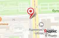 Схема проезда до компании Инспаир в Челябинске