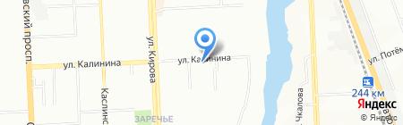 Южный Урал и К на карте Челябинска