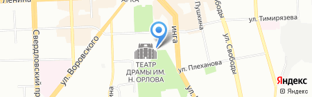 Инсис на карте Челябинска