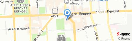 Губернаторский на карте Челябинска