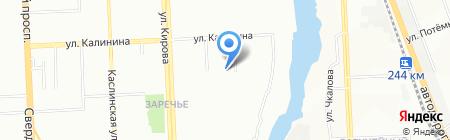 Роктэс на карте Челябинска