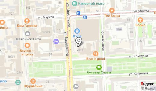 Банкомат АКБ Связь-Банк. Схема проезда в Челябинске
