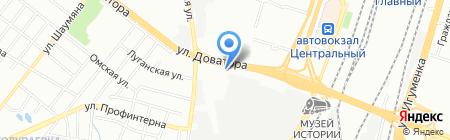 Subway на карте Челябинска