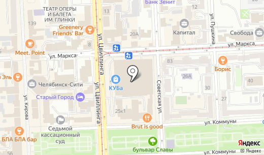 Дефиле. Схема проезда в Челябинске