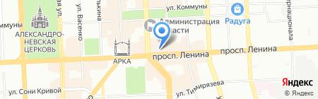 Аквантика на карте Челябинска