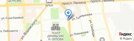 Арована-Антик на карте Челябинска