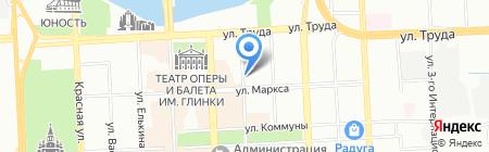 Банк Интеза на карте Челябинска