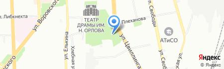 Белая Лошадь на карте Челябинска