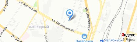 Детский сад №152 на карте Челябинска