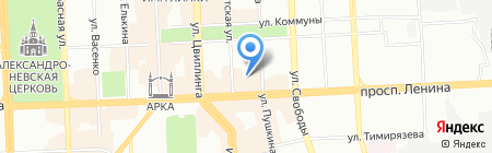 Император на карте Челябинска