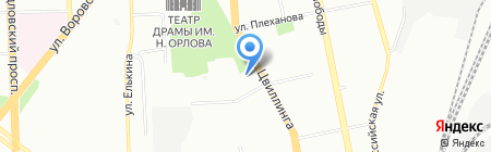 Уральский малахит на карте Челябинска