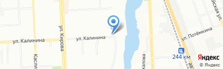 Гостиница на карте Челябинска