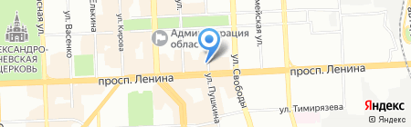 Юлия на карте Челябинска