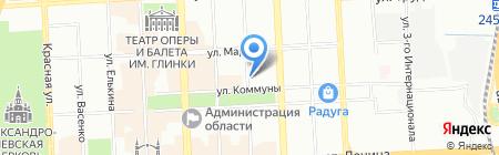 Уральская телекомпания на карте Челябинска